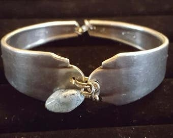 Oneida Hand Crafted Bracelet in Silver with Dangling Accents
