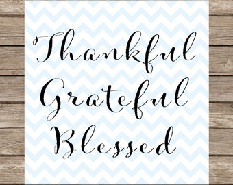 Thankful Grateful Blessed SVG PNG Rustic Thankful Grateful Blessed Thanksgiving Cutting File Cricut Silhouette Graphic File