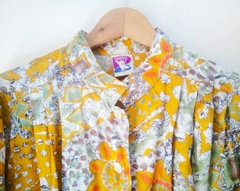 Vintage mustard eighties blouse
