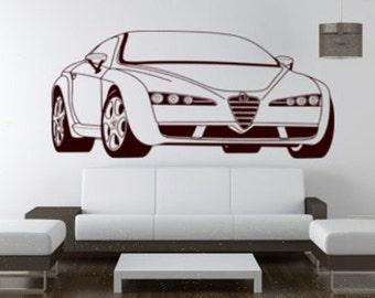 Alfa Romeo boys bedroom decorative wall sticker, wall decal.