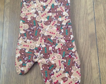 Gingerbread Man Christmas Oven Mitt