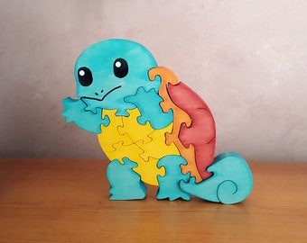 Squirtle Pokemon Wood Puzzle