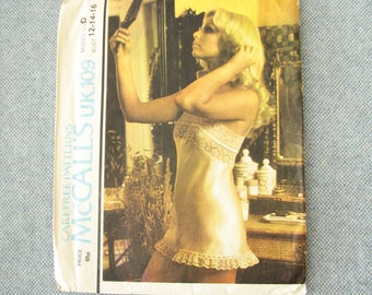 1970s Misses Camiknickers, McCalls U.K.109 pattern with sensual lingerie, sizes 12-14-16