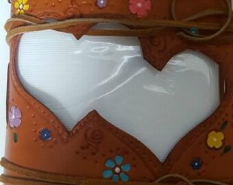 2 Hearts Leather Photo Album