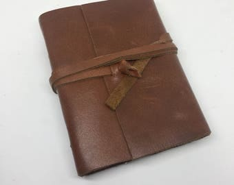 Small leatherbound journal- 25% cotton paper