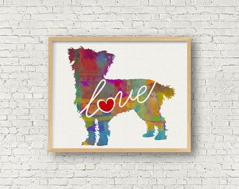 Terrier / Poodle / Yorkie / Schnoodle / Mix Breed Love - A Colorful Watercolor Style Dog Breed Print That Can Be Personalized With Name