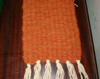 Handwoven wool place mat set