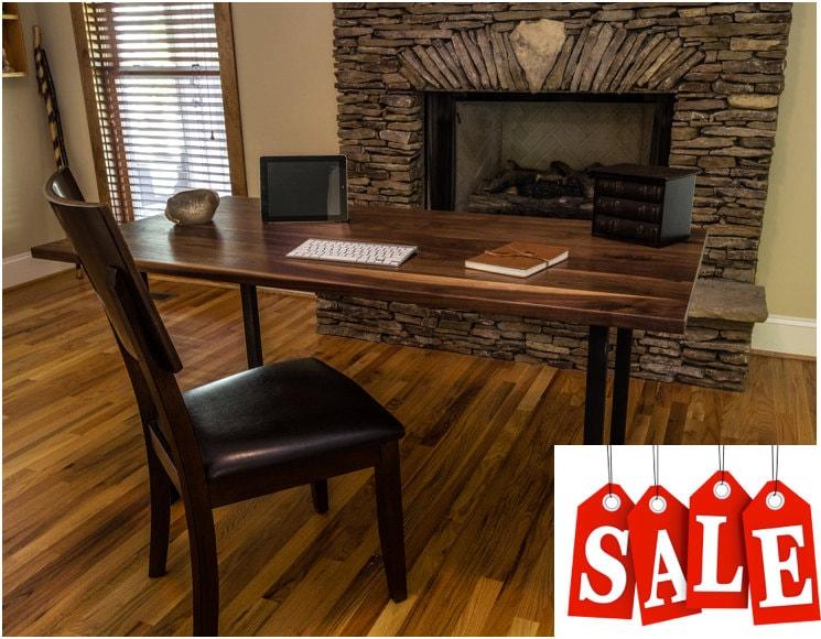 Walnut wood desk,  Modern Walnut Desk,  walnut table, walnut dining table, walnut furniture, Free Shipping