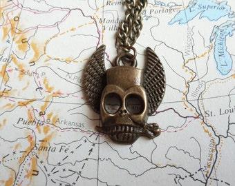 Steampunk men necklace
