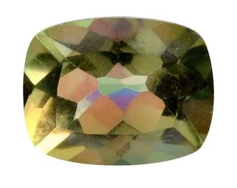 Mystic Coated Enami Green Quartz Cushion Cut Loose Gemstone 1A Quality 9x7mm TGW 1.80 cts.
