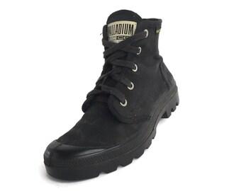 30% flash sale Vintage Palladium Black Canvas Hi Top Sneakers // Size 37 EU // Women's US 7