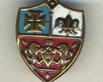 Vintage Shield Enameled Pin, Heraldry