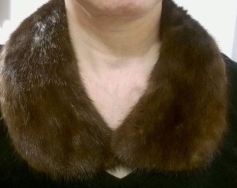 Gorgeous Dark Mink Fur Collar - Vintage