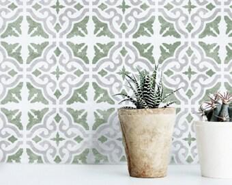 SEVILLE Tile Stencil - Mediterranean Moroccan Floor Wall Furniture Tile Stencil - SEVI01