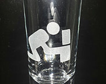 Tipsy Etched Shot Glass