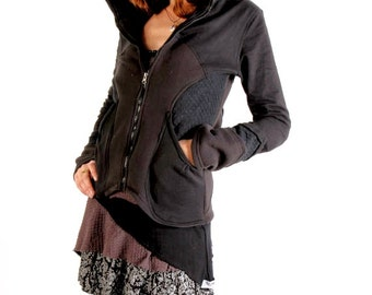 Pixie Jacket,Hippie Hoodie,Psy Trance Clothing ,Festival Clothing,Bohemian Clothing,Bohemian Hoodie,Warm Jacket,Fairy Clothing,Gift For Her.