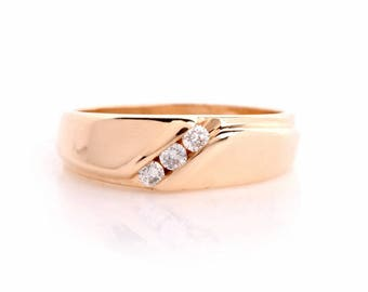 Estae Diamond 14k Yellow Gold Wedding Band