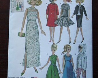Simplicity Pattern #1242, Barbie/Fashion Doll Clothes, New