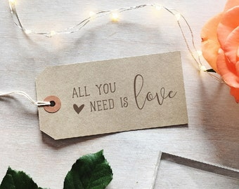 All You Need is Love Stamp | Valentines Stamp - Happy Valentines Day - Wedding Stamp - Romantic Sentiment