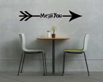 Me and You Bedroom Wall Decal // Living Room Decor // Dining Room Decal // Home Decor // Living Room Decor // Wall Stickers