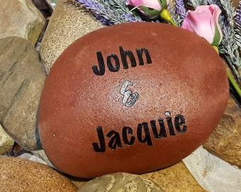 Garden Stones - Custom Garden Rocks - Name Rocks for Garden - Personalized Landscape Rocks - Custom Garden Stone - Custom Stone Engraving