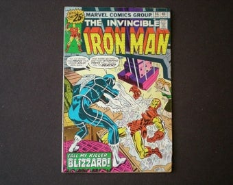Iron Man 86, (1976), 1st appearance Blizzard, Marvel Comics IJ