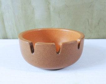 Vintage Heath Ceramics Ashtray with Pumpkin Interior - Edith Heath Pottery Ashtray
