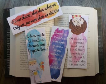 Dumbledore Quotes Watercolor Bookmarks