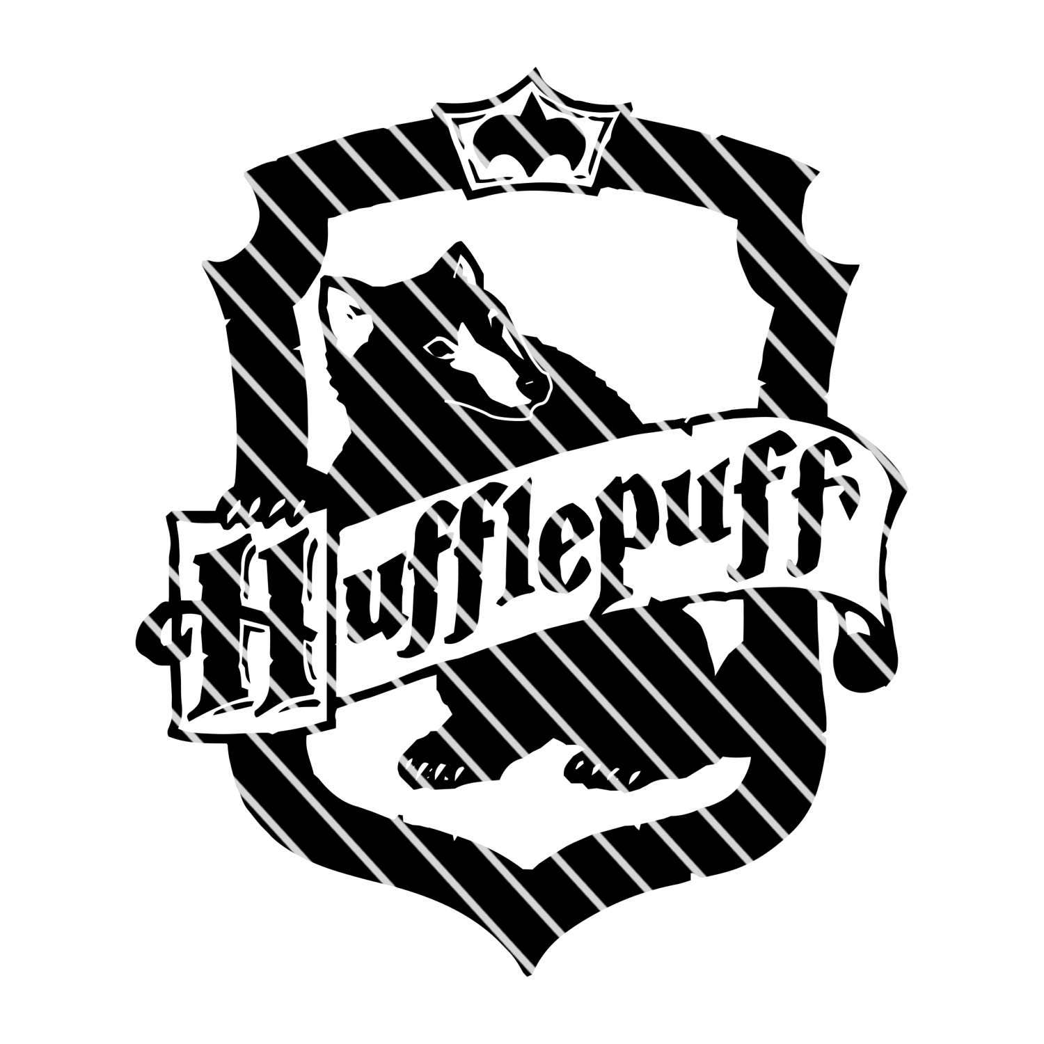 Harry Potter Hufflepuff Crest - Simple SVG file from ...