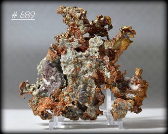 Large, Thick, and Gorgeous Authentic Crystalline Dendritic Native Copper From Michigan's Upper Peninsula, USA