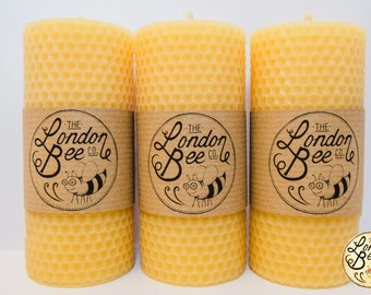 Honeycomb Solid Beeswax Pillar Candle (12.38 cm x 5.75 cm)