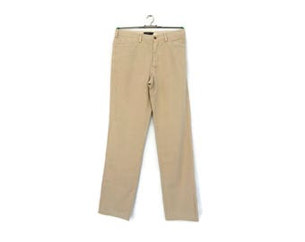 Vintage mens pants /  Men's chino pants / Mens  cotton  trousers /  90's HENRY COTTON'S  casual trousers