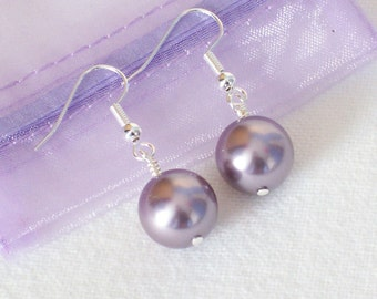 Lilac Swarovski Crystal Earrings