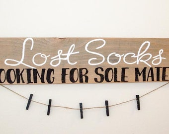 Lost Socks Sign - Lost Socks - Laundry Room Decor -Laundry Sign -Laundry Room Sign -Laundry Room Art -Laundry Room Wall Decor -Missing Socks