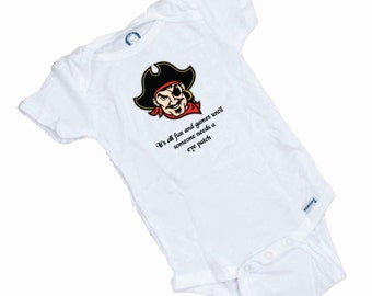 Pirate Eye Patch Funny Baby Onesie or Tee Shirt
