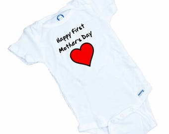 Happy First Mother's Day Baby Onesie