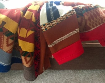 Blanket made from Up-cycled Pendleton Wool