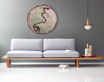 luxurious wall clock bespoke wall lighting large abstract glass art unique