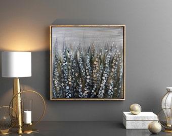 Wildflowers Canvas Art Print, Flower Art Print, Wildflower Art Print, Landscape Art, Nature Art, Flowers Artwork