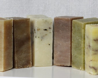 ORGANIC SOAP COLLECTION - Gift Set - Bee's Botanics Handmade Soap - 100% Natural - Guest Size Soap Bars
