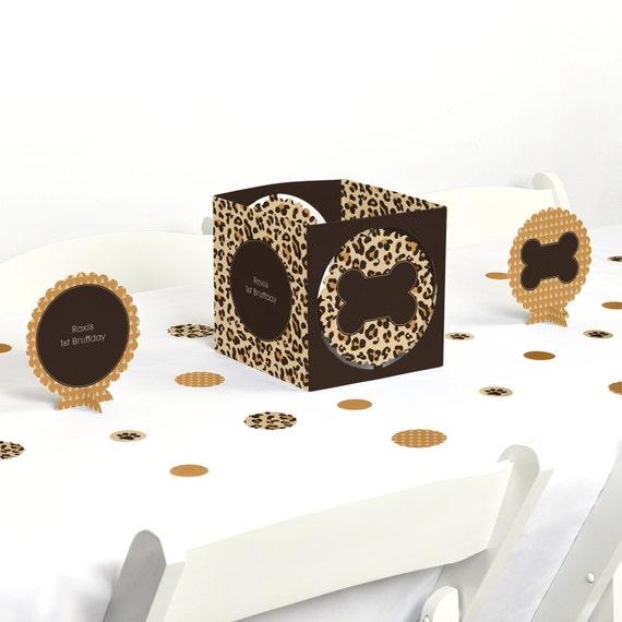 Leopard centerpiece table decoration kit custom dog