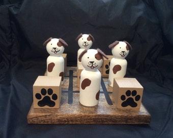 DOG and PAW PRINT Tic-Tac-Toe Set