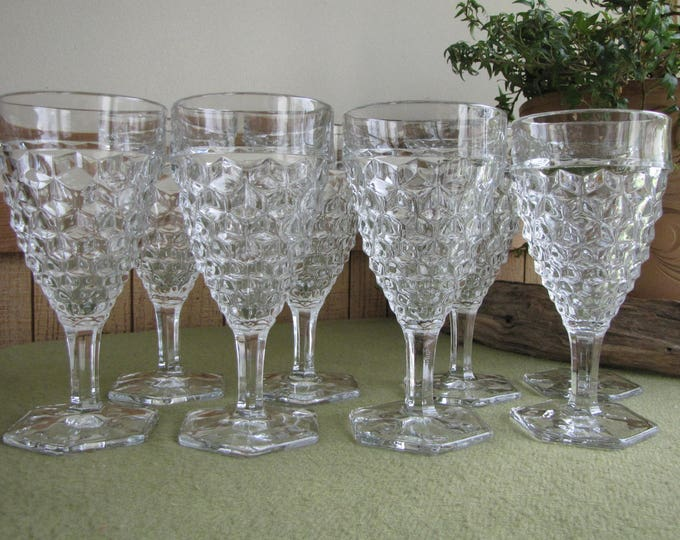 Fostoria American Water Goblets Set of Eight (8) Priced Individually Vintage Drink and Barware