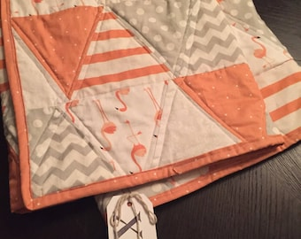 Baby Size Flamingo Triangle Quilt