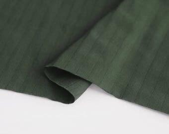 Green Double Cotton Gauze Fabric by Yard