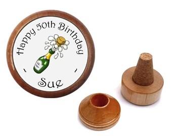 Unique Personalized birthday gift present for men - women - him - her - boyfriend - girlfriend   Bottle Stopper Set