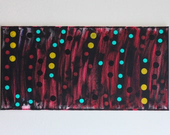 Odder Items: Acrylic paint on 12x24 Stretched Canvas