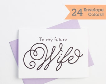 To My Future Wife Wedding Card, Wedding Cards, Printed Wedding Cards with Envelopes (WC015-PL)
