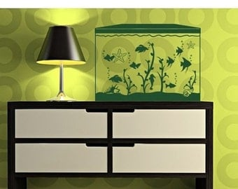 Aquarium Wall Decal Etsy