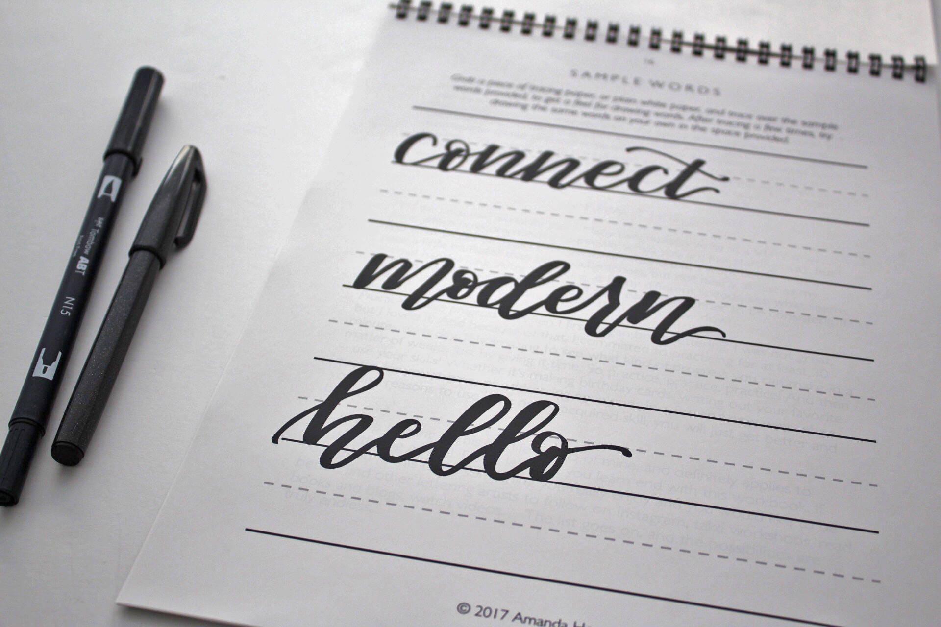 Brush lettering starter kit from ariapaperie on etsy studio